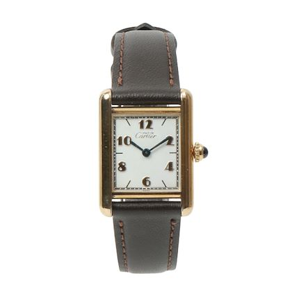 cartier-925-tank-vermeil-sm-dark-brown