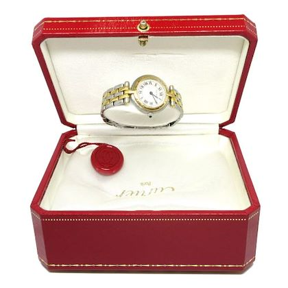 cartier-oretacier-quartz-wristwatch-watch-silver-gold