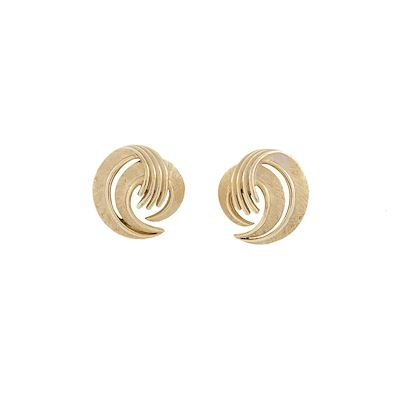 1960s-vintage-trifari-brushed-clip-on-earrings-4