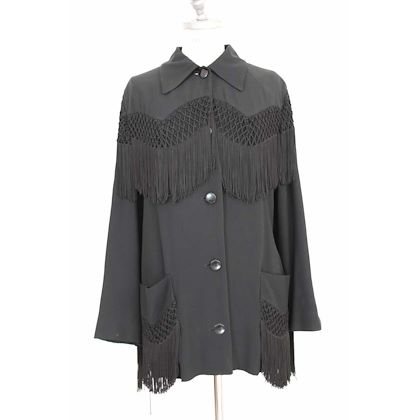 moschino-couture-vintage-jacket-western-fringes-black