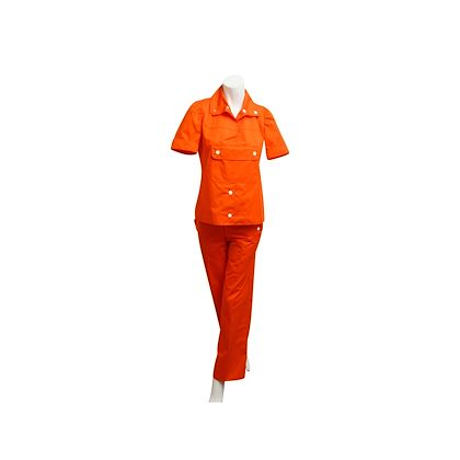 orange-red-vintage-courreges-top-pant-set