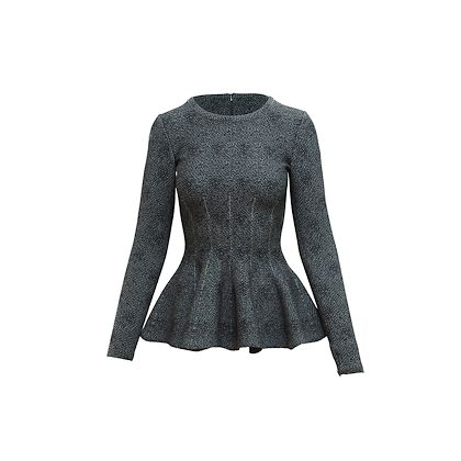 black-blue-alaia-knit-peplum-top