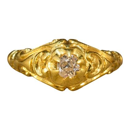 heavy-quality-victorian-gypsy-set-diamond-ring-in-18-carat-yellow-gold