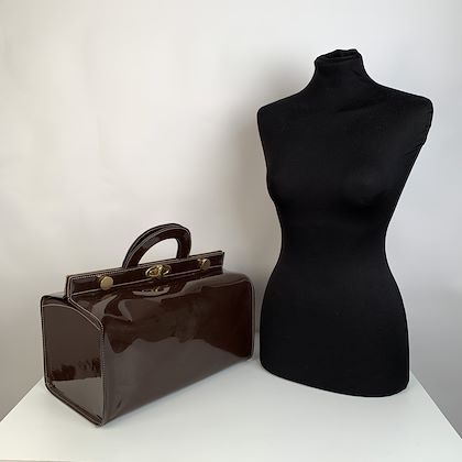 fendi-vintage-brown-vinyl-doctor-bag-satchel-handbag
