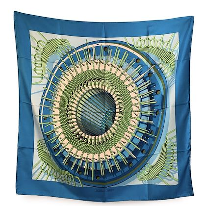 hermes-vintage-blue-silk-scarf-alternateur-1971-pierre-peron