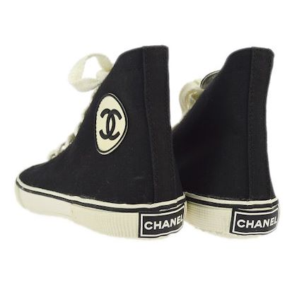 chanel-high-cut-sneakers-string-shoes-black-white