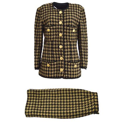 chanel-collarless-single-breasted-jacket-skirt-set-up-suit-brown