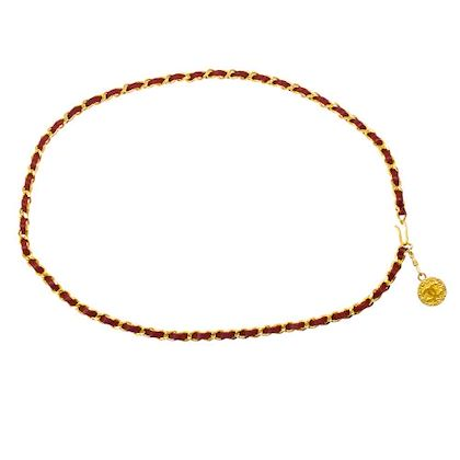 chanel-medallion-chain-belt-red-gold