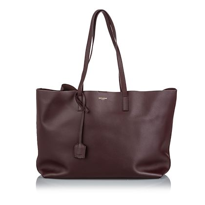 brown-yves-saint-laurent-leather-east-west-shopping-tote-bag