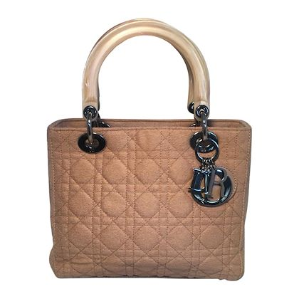 christian-dior-tan-wool-cannage-quilted-medium-lady-di-bag
