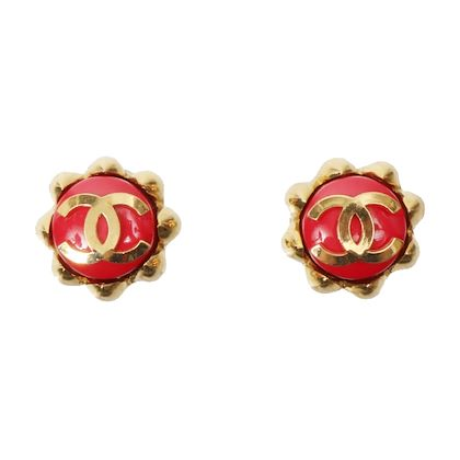 chanel-flower-motif-cc-mark-earrings-cherry-red