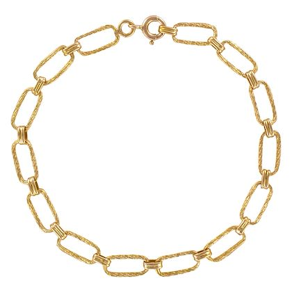 french-1960s-retro-18-karat-yellow-gold-twisted-links-necklace