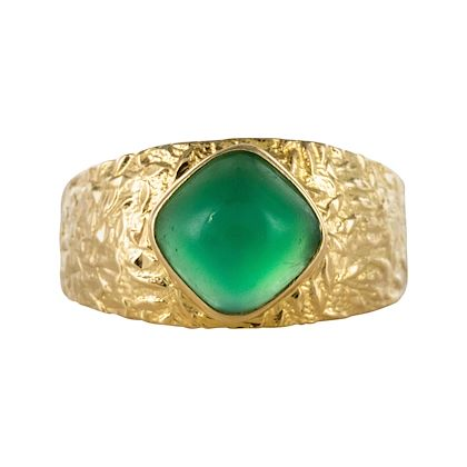 1970s-green-agate-18-karat-yellow-gold-bangle-ring