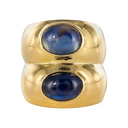 1980s-sapphire-18-karat-yellow-gold-double-bangle-bulgari-ring