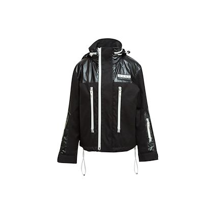 black-white-alexander-wang-zip-up-hooded-jacket
