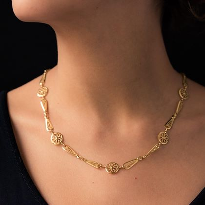 french-20th-century-belle-époque-yellow-gold-filigree-necklace
