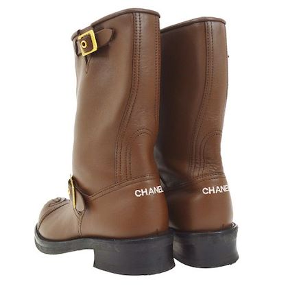 chanel-cc-logos-medium-boots-shoes-brown-37