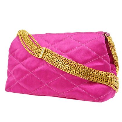 chanel-quilted-rhinestone-chain-shoulder-bag-pink-satin