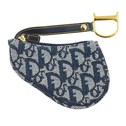 christian-dior-trotter-pattern-saddle-coin-purse-navy