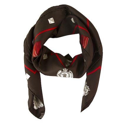 hermès-brown-silk-scarf