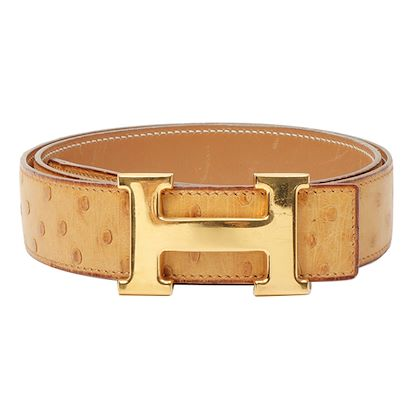 hermes-1995-made-ostrich-constance-belt-gold