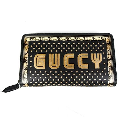 new-gucci-guccy-wallet-star-long-zip-around-black-and-gold-leather-logo