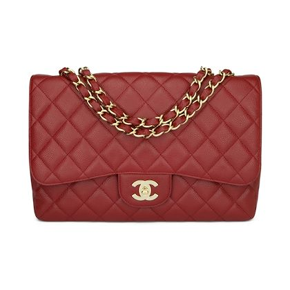 chanel-single-flap-jumbo-red-caviar-gold-hardware-2009