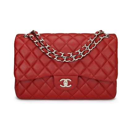 chanel-double-flap-jumbo-red-caviar-silver-hardware-2010-2