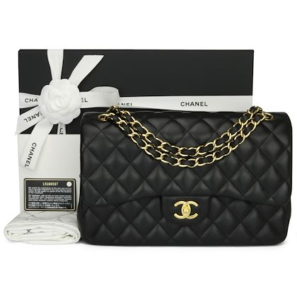 chanel-double-flap-jumbo-black-lambskin-gold-hardware-2011