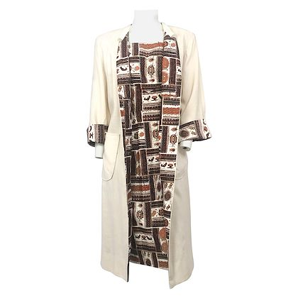 1950s-novelty-printed-cotton-dress-with-coat