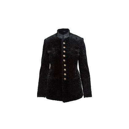 black-yves-saint-laurent-faux-fur-military-jacket