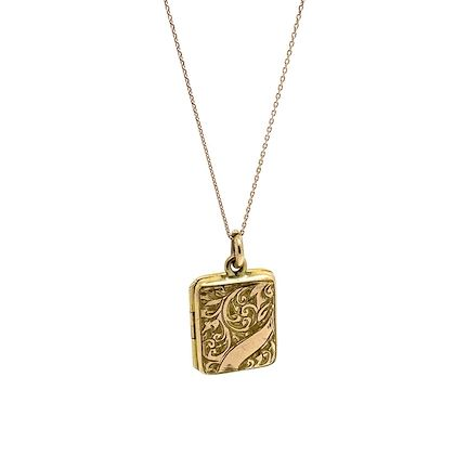 antique-victorian-9ct-yellow-gold-rectangular-locket-necklace