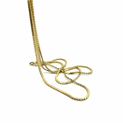vintage-1970s-rolled-gold-triple-cobra-chain-necklace