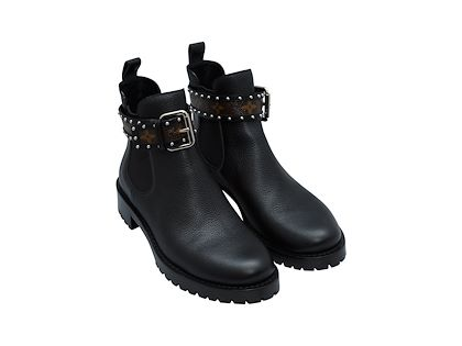 black-louis-vuitton-leather-monogram-strap-boots