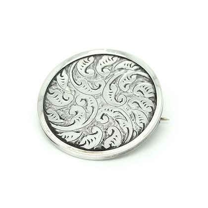 antique-victorian-silver-round-engraved-brooch