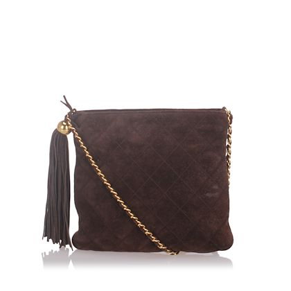 chanel-suede-leather-chain-crossbody-bag