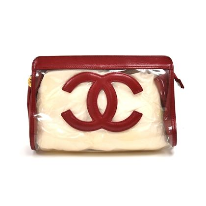 chanel-red-lambskin-leather-vinyl-cc-logo-cosmetic-travel-case